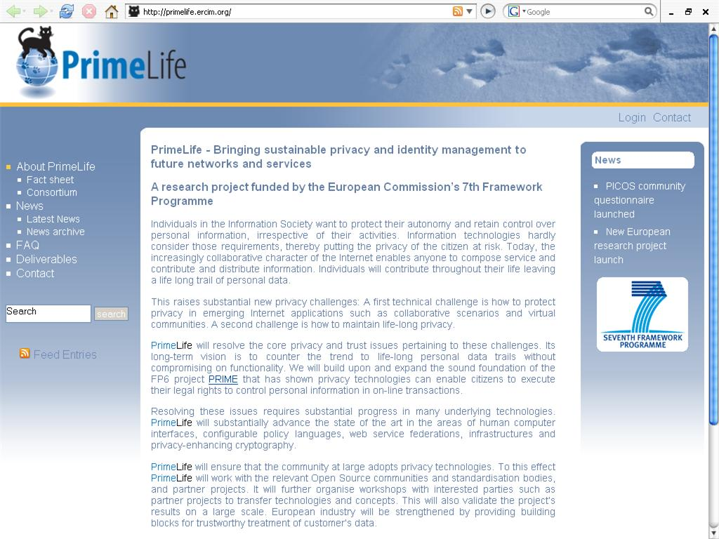 Primelife Project New Web Page Design Online